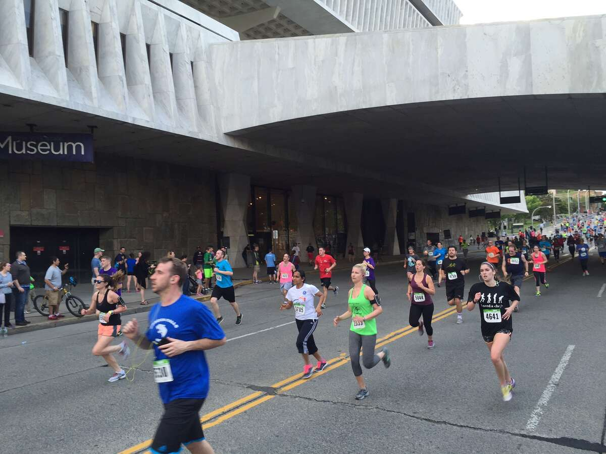 Close to 10,000 participated in running the CDPHP Workforce Challenge in 2016 at the Empire State Plaza (Barnabas Kui / Special to the Times Union)