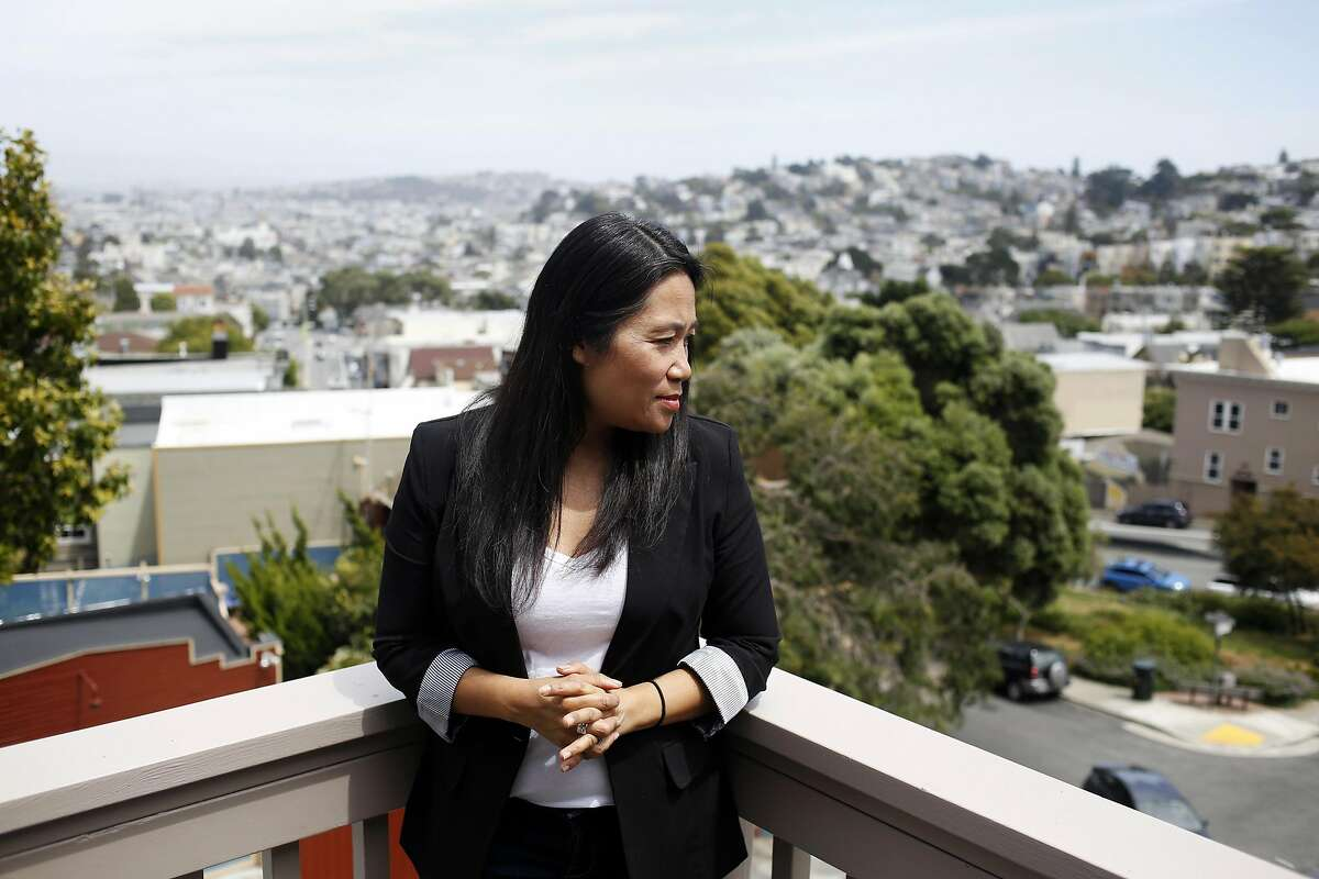 Lily Tung Crystal, founding artistic director of Ferocious Lotus, poses for a photograph at her home in San Francisco, California, on Thursday, May 19, 2016.