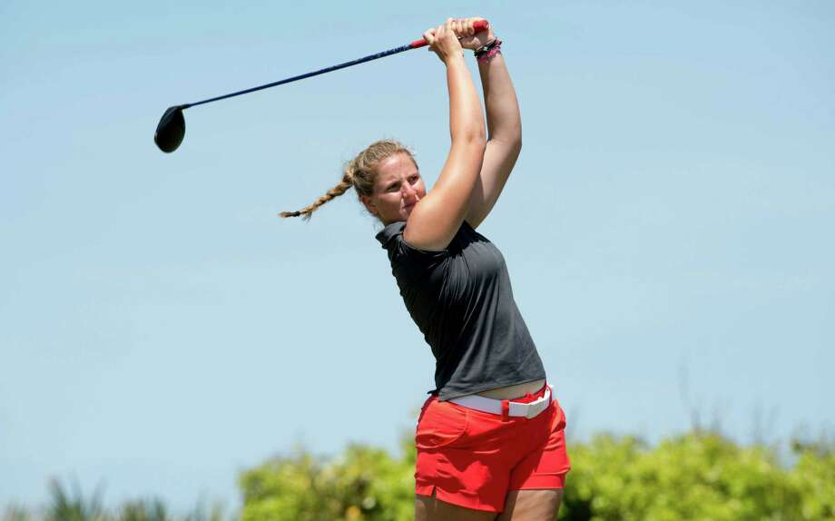 Leonie Harm will be UH's first women's golfer to play in the NCAA champion-ships when the event begins today in Eugene, Ore. Photo: (Ben Solomon/American Athletic Conference) / (Ben Solomon/American Athletic Conference)