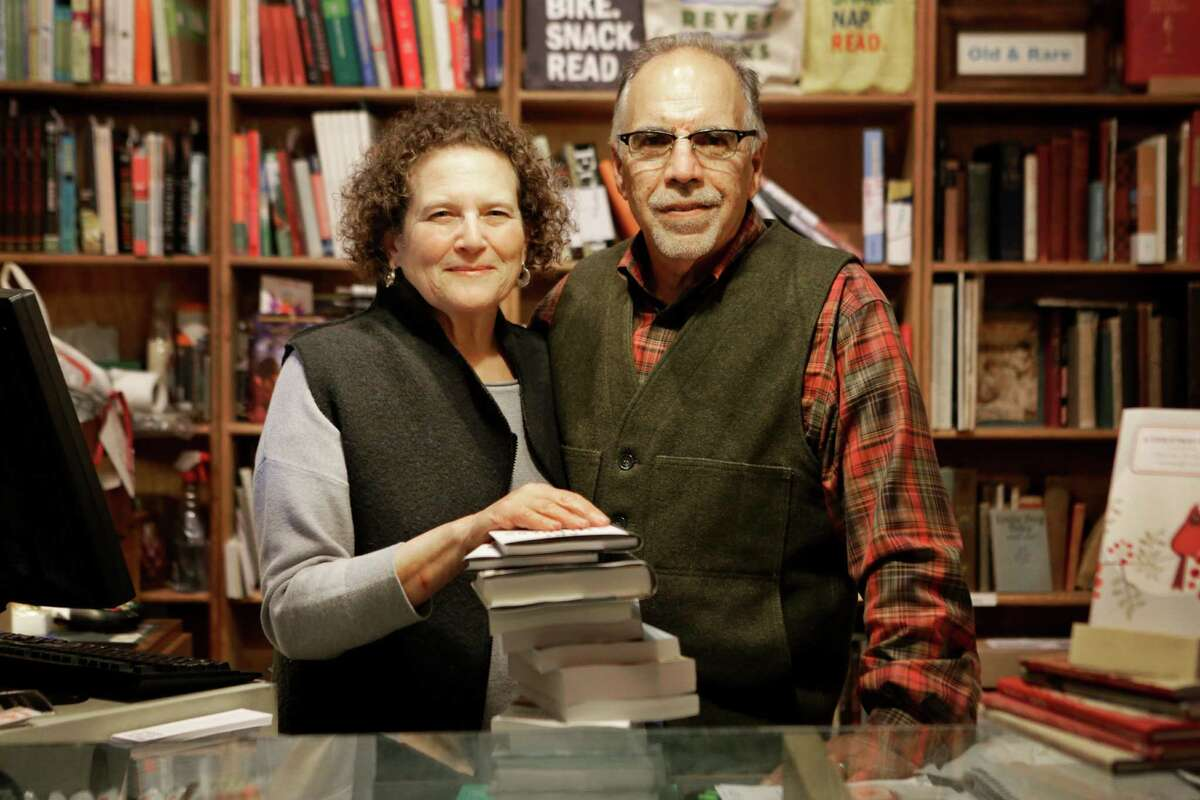 Kate Levinson and Steve Costa have owned Point Reyes Books for 14 years.