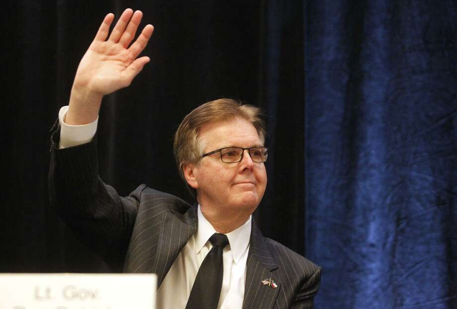 Texas Lt. Governor Dan Patrick waves to supporters during the Texas National Day of Prayer Breakfast last year in Austin. A reader criticizes Patrick for his stance on defunding Planned Parenthood. Photo: Stephen Spillman /Stephen Spillman