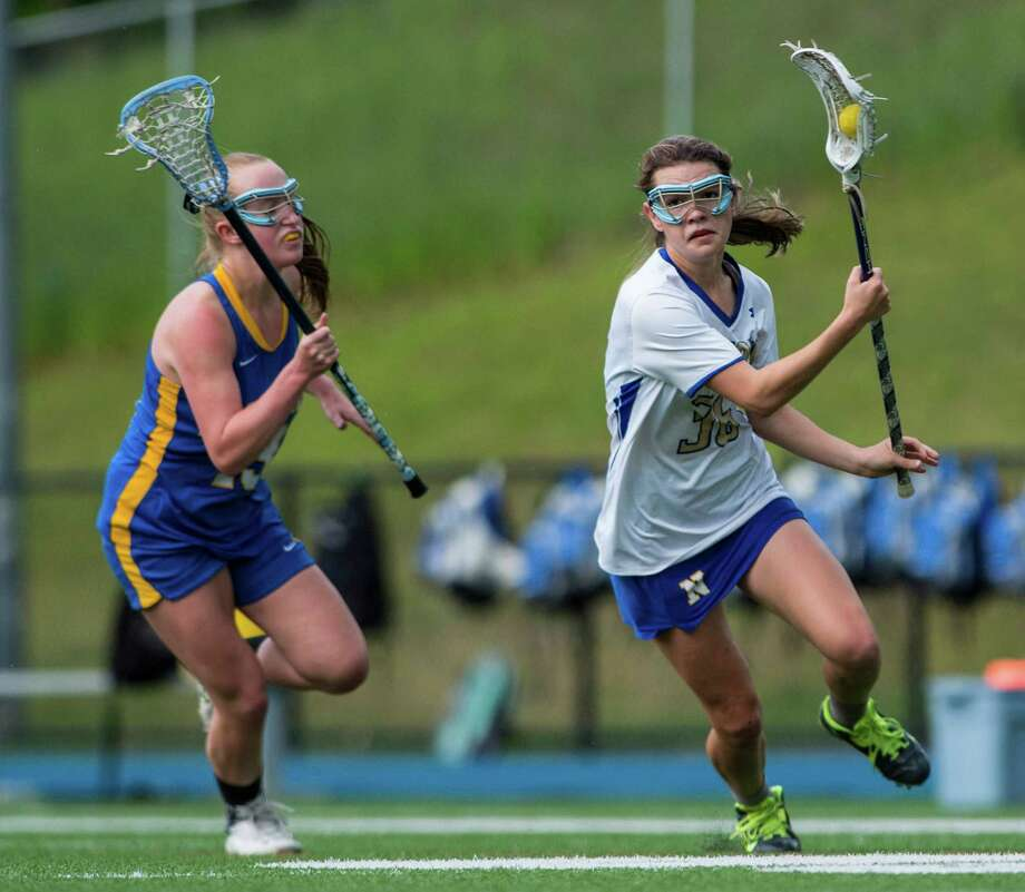 Brookfield High School against Newtown High School during a SWC quarterfinal girls lacrosse game played at Newtown High School, Newtown, CT on Thursday, May 19, 2016. Photo: Mark Conrad / For Hearst Connecticut Media / Stamford Advocate Freelance