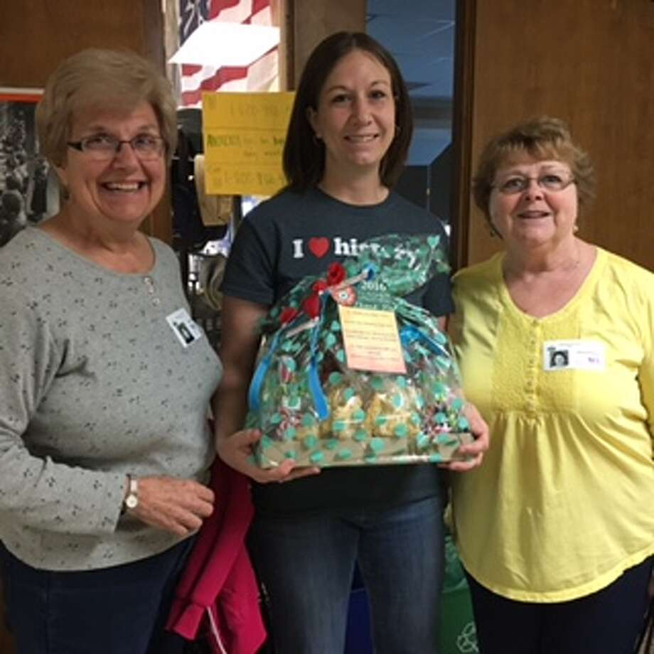 No. Albany American Legion Auxiliary #1610, Judy Benner and Jan Precopia,  presented a gift basket during Teachers Appreciation Week  to Ms. Rudolf at Guilderland High for the four teachers whose  students submitted essays to the National ALA Americanism Essay Contest.  The winners will be announced at the National Convention in July.