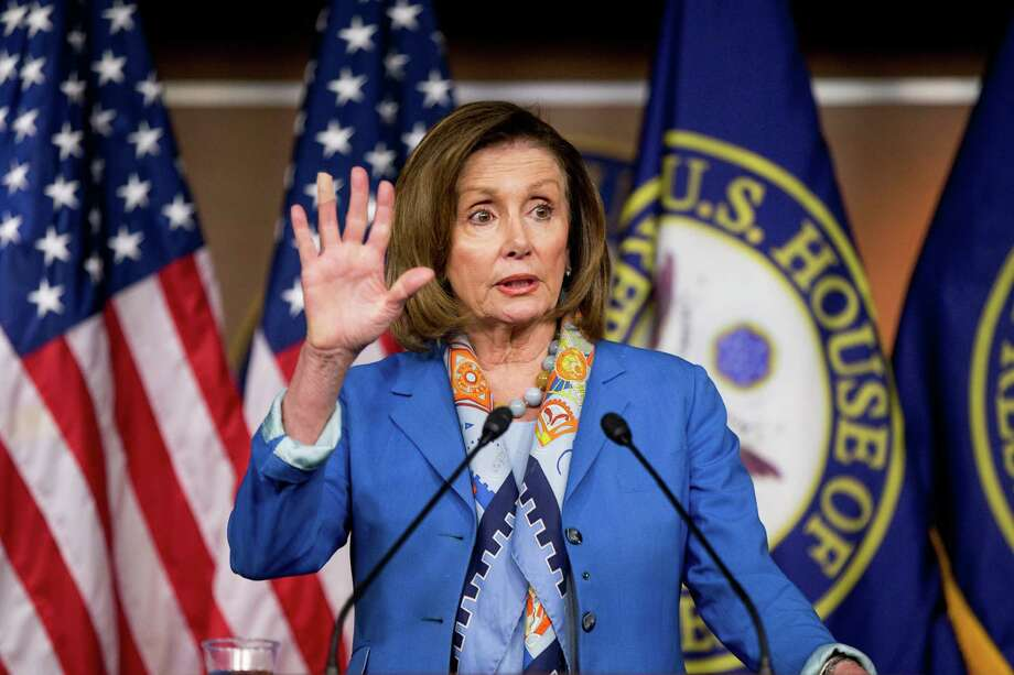 House Minority Leader Nancy Pelosi of Calif. speaks during her weekly news conference on Capitol Hill in Washington, Thursday, May 19, 2016. In a breakthrough, House Republicans and Democrats have agreed to a deal to help rescue Puerto Rico from $70 billion in debt.  (AP Photo/Andrew Harnik) ORG XMIT: DCAH201 Photo: Andrew Harnik / Copyright 2016 The Associated Press. All rights reserved. This m