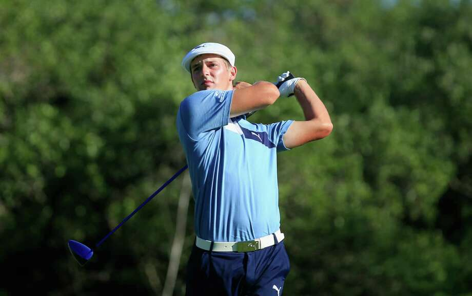 SAN ANTONIO, TX - APRIL 22:  Bryson DeChambeau tees off on the ninth hole during the second round of the Valero Texas Open at TPC San Antonio AT&T Oaks Course on April 22, 2016 in San Antonio, Texas.  (Photo by Marianna Massey/Getty Images) Photo: Marianna Massey, Stringer / 2016 Getty Images