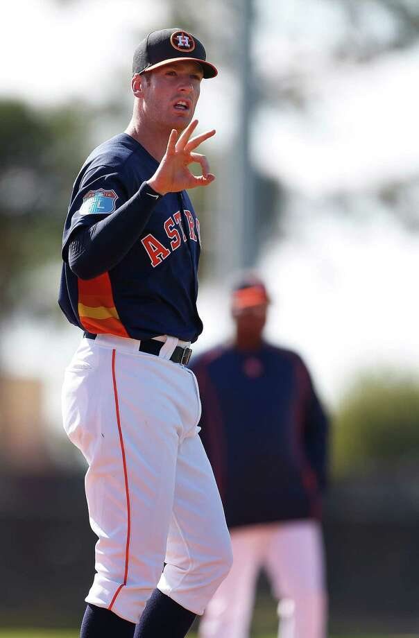 Colin Moran was 2 for 19 over six games in May for the Astros.  Photo: Karen Warren, Staff / © 2015  Houston Chronicle