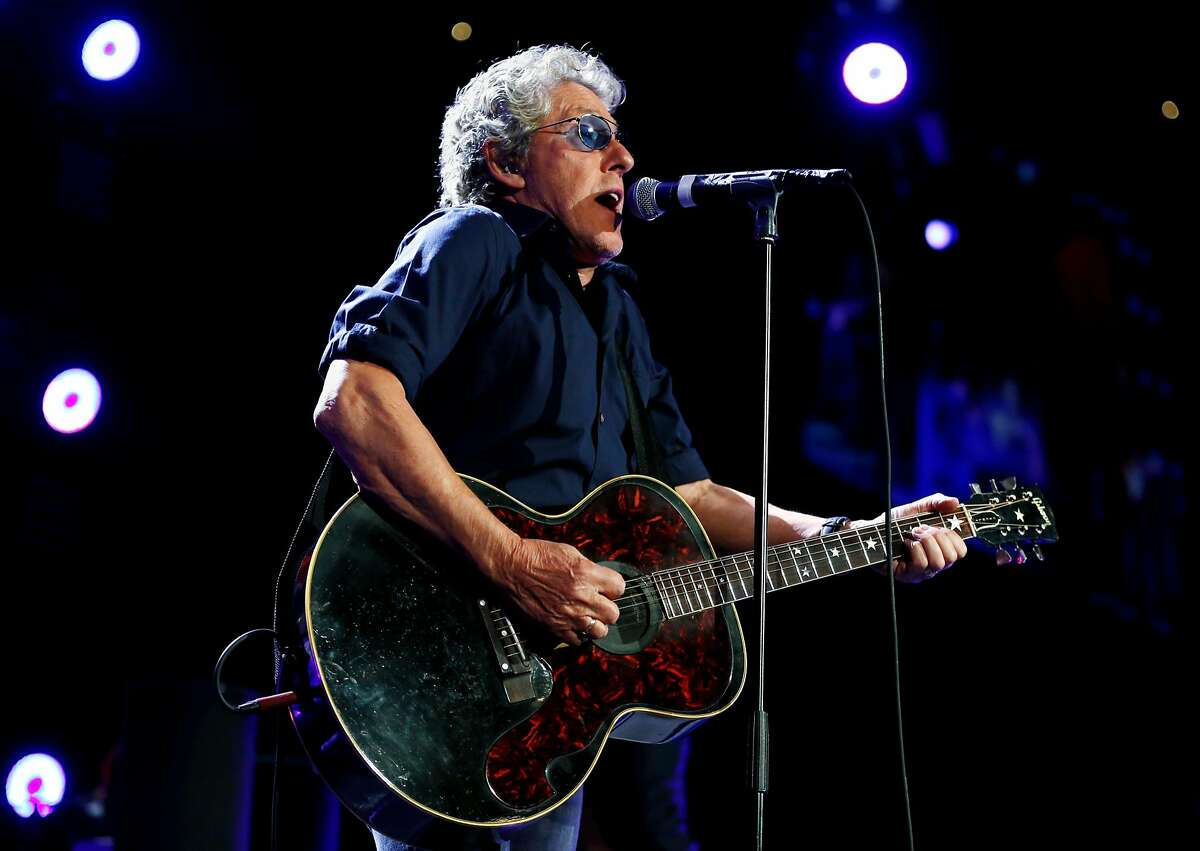 Roger Daltrey of The Who performs during a concert at Oracle Arena in Oakland, California, on Thursday, May 19, 2016.