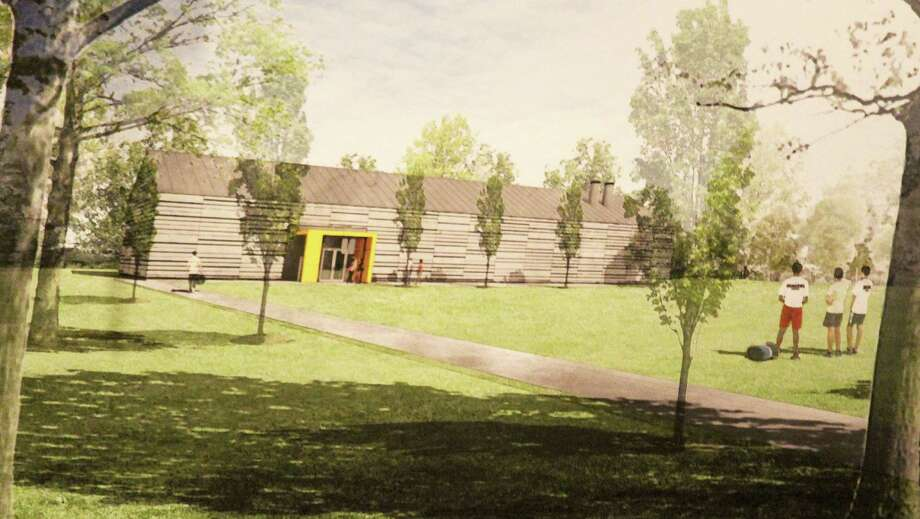 An architect's rendering of a building planned by Greens Farms Academy to house some of its winter sports teams. Photo: Westport News / Chris Marquette / Westport News