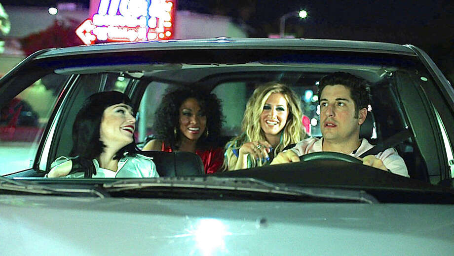 """A scene from the new movie, """"Amateur Night,"""" with actors Janet Montgomery, Bria Murphy, Ashley Tisdale and Jason Biggs. Photo: Contributed Photo / Westport News"""