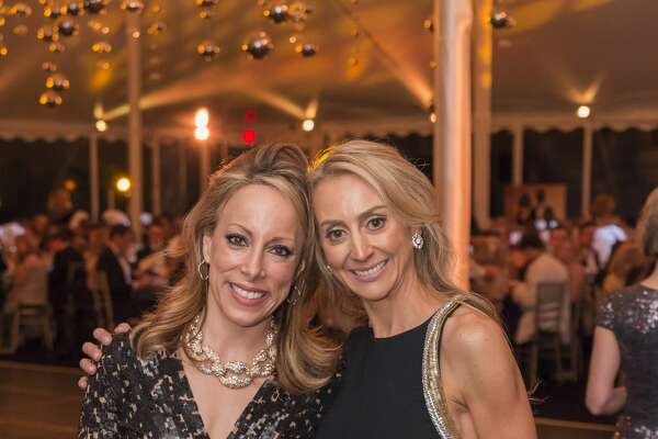 Kamie Lightburn and Felicity Kostakis at the Bruce Museum Renaissance Ball on May 14, 2016. The black tie fundraiser supports education and science initiatives at the Bruce Museum. The event was co-chaired by Felicity Kostakis and Kamie Lightburn. Sachiko and Lawrence Goodman were honored.