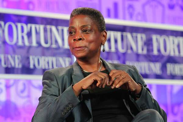 Xerox CEO Ursula Burns speaks in 2013 at the Fortune Most Powerful Women Summit in Washington, DC. (Photo by Paul Morigi/Getty Images for FORTUNE)