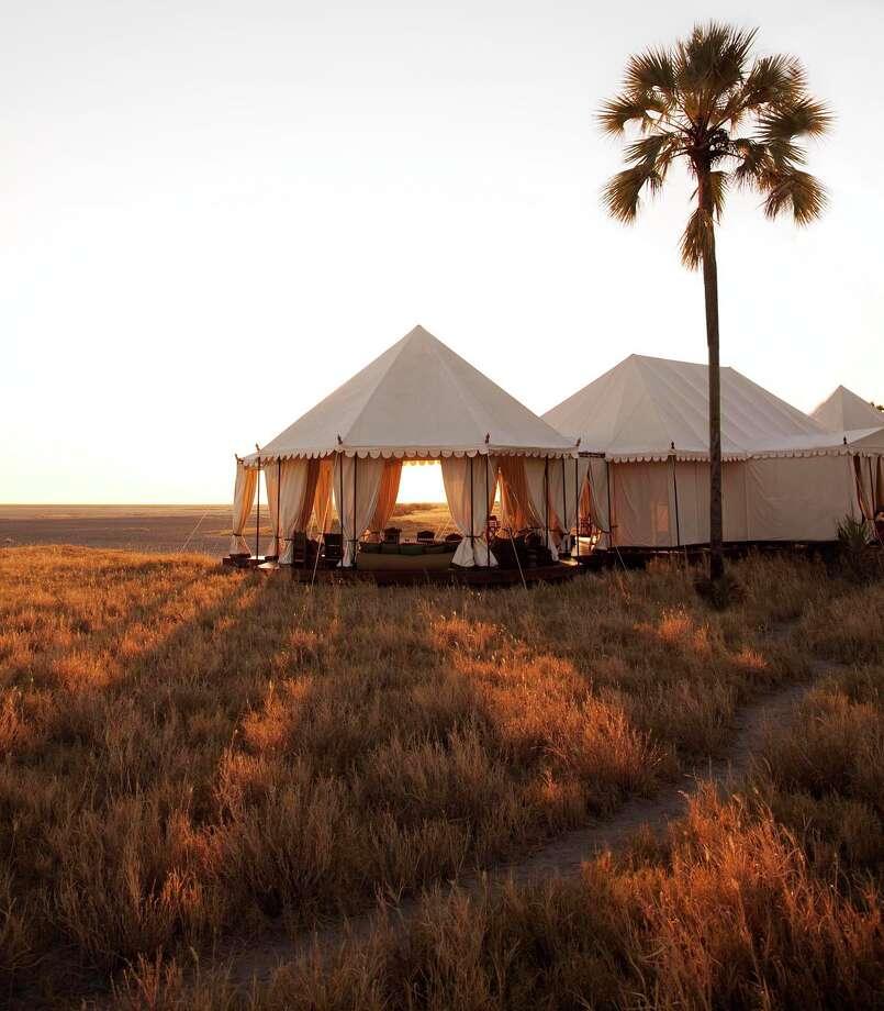 San Camp, Botswana / www.davidcrookes.com
