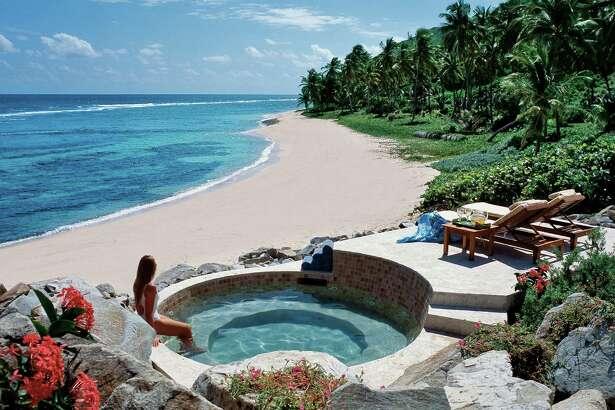 Beautiful Peter Island beach view, British Virgin Islands