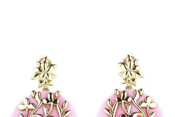 Oscar de la Renta offers its rose flower vine earrings, $390.