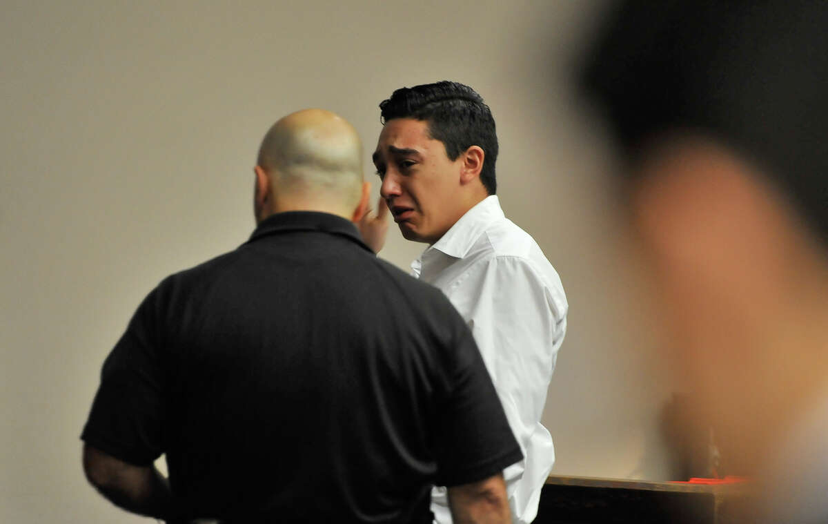 Antonio Flores is led out of court after the punishment phase of his trial in which he was sentenced to two 10 year terms in the deaths of two persons while drag racing.