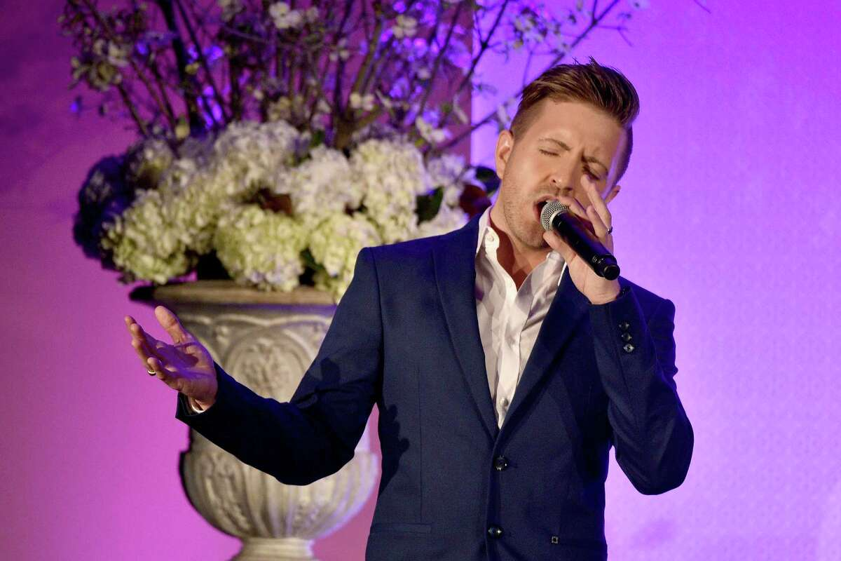 NEW YORK, NEW YORK - APRIL 11: Billy Gilman performs onstage at Point Honors Gala honors Greg Louganis and Pete Nowalk on April 11, 2016 in New York City.