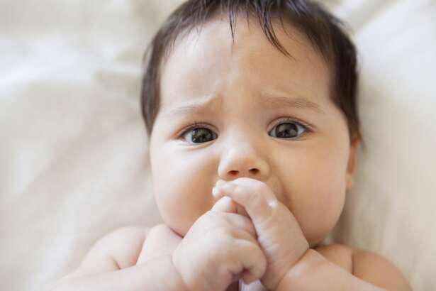 Teeth coming in on a baby doesn't actually create much discomfort.