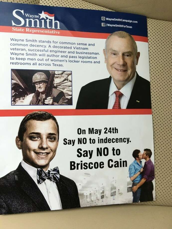This political ad for Wayne Smith attacks his opponent Briscoe Cain. Photo: Briscoe Cain Political Ad