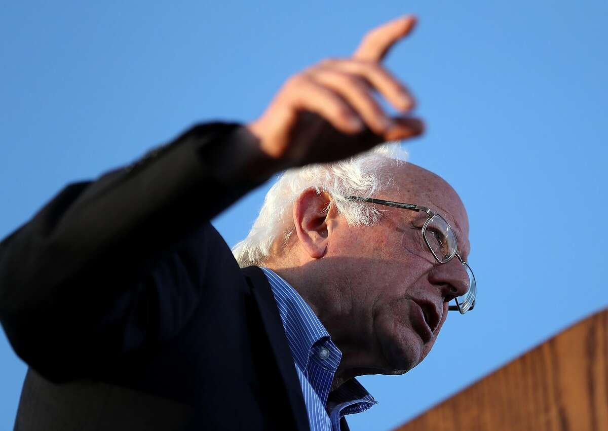 Democratic presidential candidate Sen. Bernie Sanders speaks at a campaign rally at Waterfront Park on May 18, 2016 in Vallejo, California. A day after winning the Oregon primary, Bernie Sanders is campaigning in California ahead of the state's presidential primary on June 7. (Photo by Justin Sullivan/Getty Images)