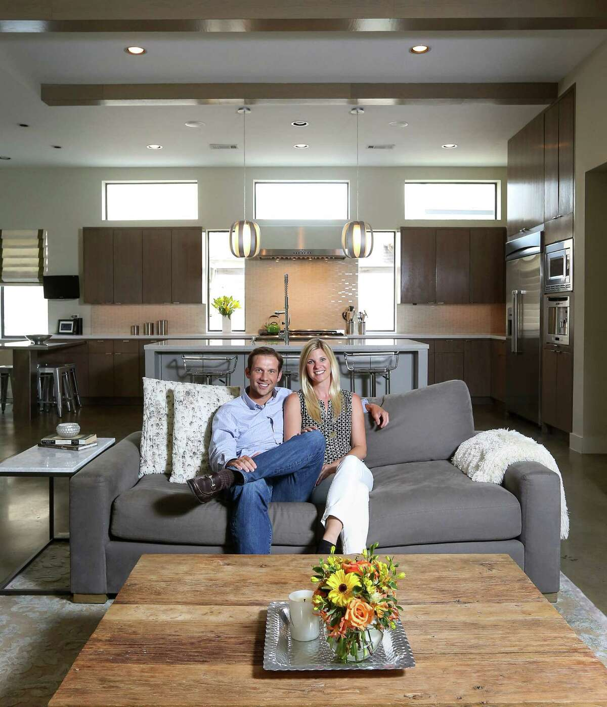 John Leggett is CEO of On Point Custom Homes. His wife, Leah, is a Realtor who stages and lists the company's spec homes.