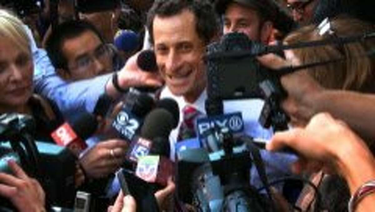 This image released by IFC Films shows Anthony Weiner in a scene from the documentary,