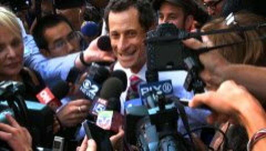 """This image released by IFC Films shows Anthony Weiner in a scene from the documentary, """"Weiner."""" (IFC Films via AP) Photo: Associated Press"""