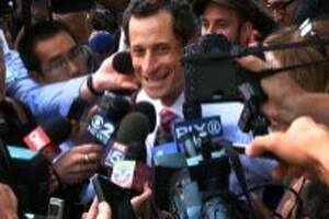 """This image released by IFC Films shows Anthony Weiner in a scene from the documentary, """"Weiner."""" (IFC Films via AP)"""