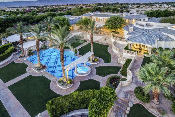 The home of Oakland A's outfielder Coco Crisp is an oasis in the Southern California desert.