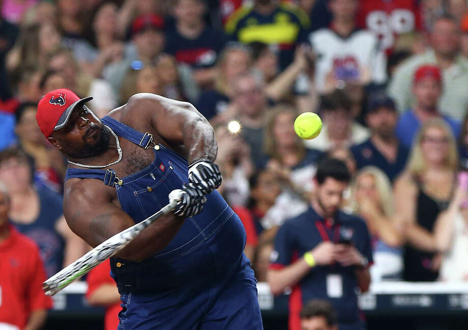 After donning this outfit at teammate J.J. Watt's charity softball game, Texans nose tackle Vince Wilfork will be nude in ESPN's the Magazine's Body Issue out next month.Click through the gallery to see other athletes who'll be featured in this year's Body Issue. Photo: Jon Shapley, Staff / © 2015  Houston Chronicle