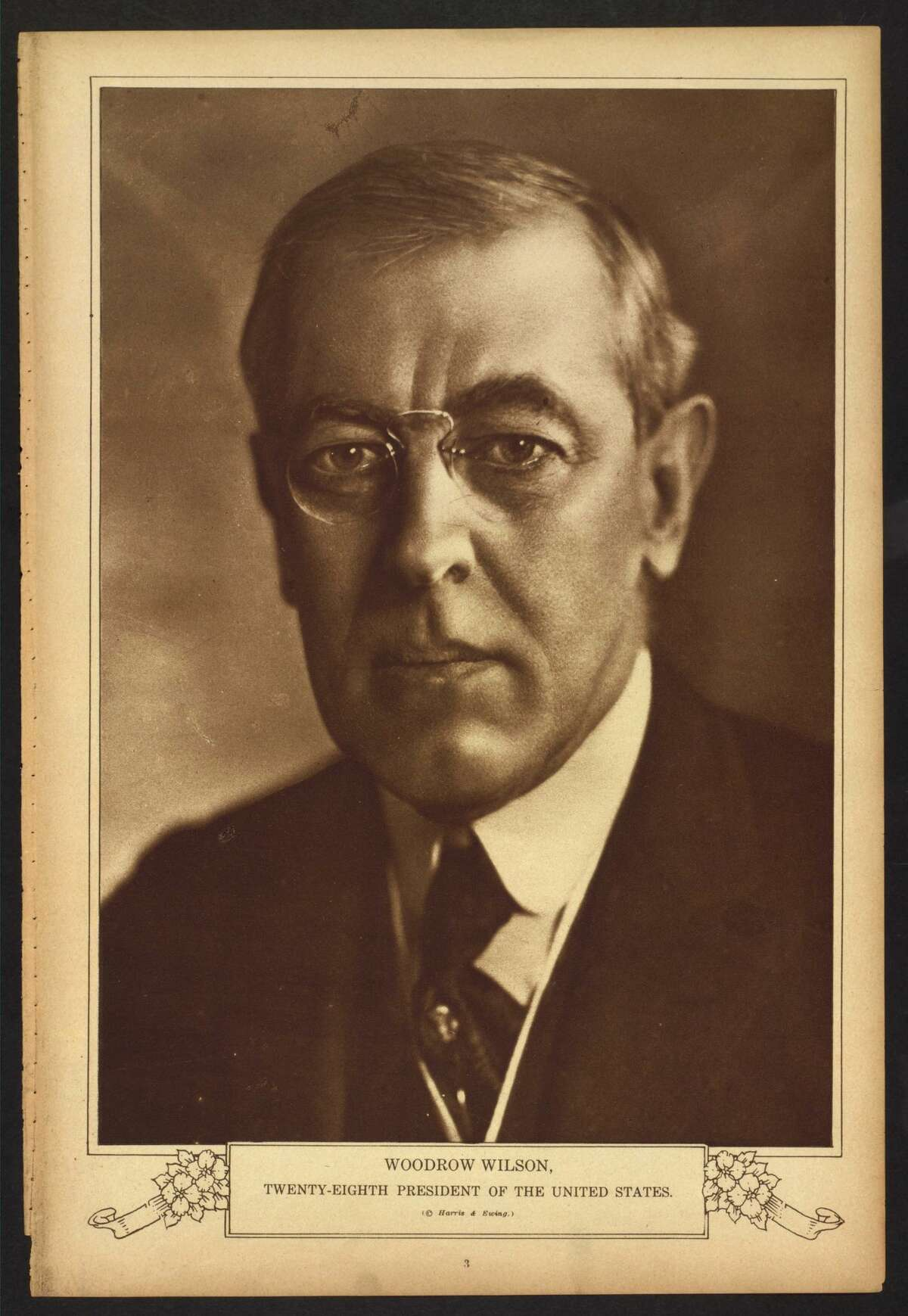 Woodrow Wilson, President of the United States, 1913-1921. Library of Congress notes: