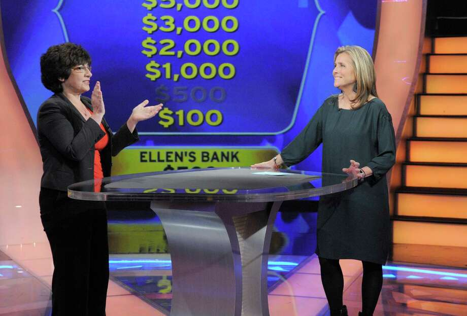 """Ellen Schwartz of New Fairfield, Conn. left, with former """"Who Wants to Be a Millionaire"""" host Meredith Vieira in a May 2013 episode. On May 20, 2016, Walt Disney announced plans to move production of the show from Stamford, Conn. to Las Vegas. Photo: Contributed /Disney-ABC / Disney-ABC / ©2012 Disney-ABC Domestic Television.  All rights reserved. NO ARCHIVING. NO RESALE."""