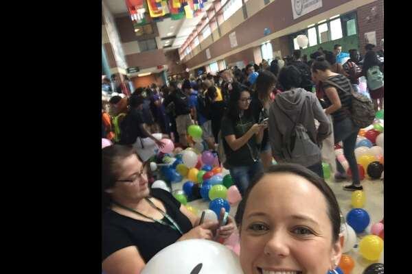 Before they walk the stage, a senior class in Austin pulled a prank that inflated the walk to class with fun and their principal's heart with joy this week.