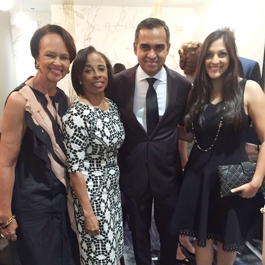 Gayla Gardner, Phyllis Williams, designer Bibhu Mohapatra and Sippi Khurana.  Photo: Joy Sewing