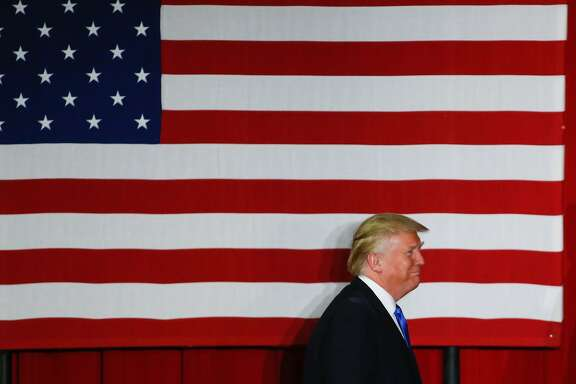 Republican presidential candidate Donald Trump arrives at a fundraising event in Lawrenceville, New Jersey on May 19, 2016.   / AFP PHOTO / EDUARDO MUNOZ ALVAREZEDUARDO MUNOZ ALVAREZ/AFP/Getty Images