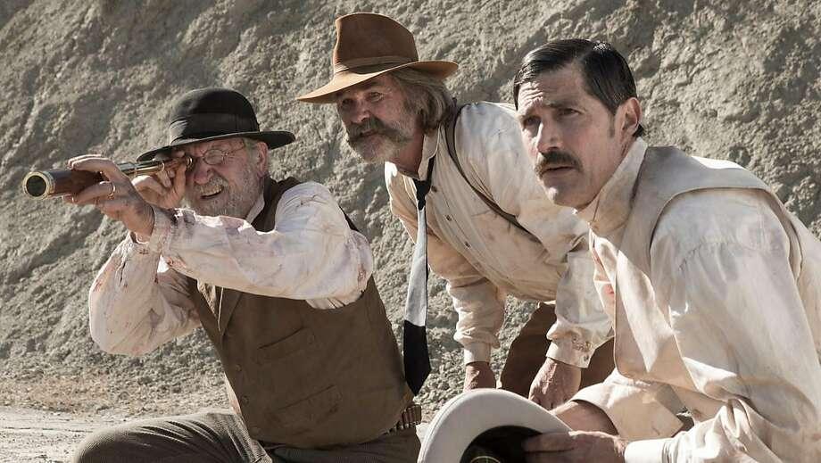 "Richard Jenkins, Kurt Russell and Matthew Fox in the overlooked ""Bone Tomahawk."" It finally gets a screening in San Francisco. Photo: Scott Everett White, Caliber Media Company"