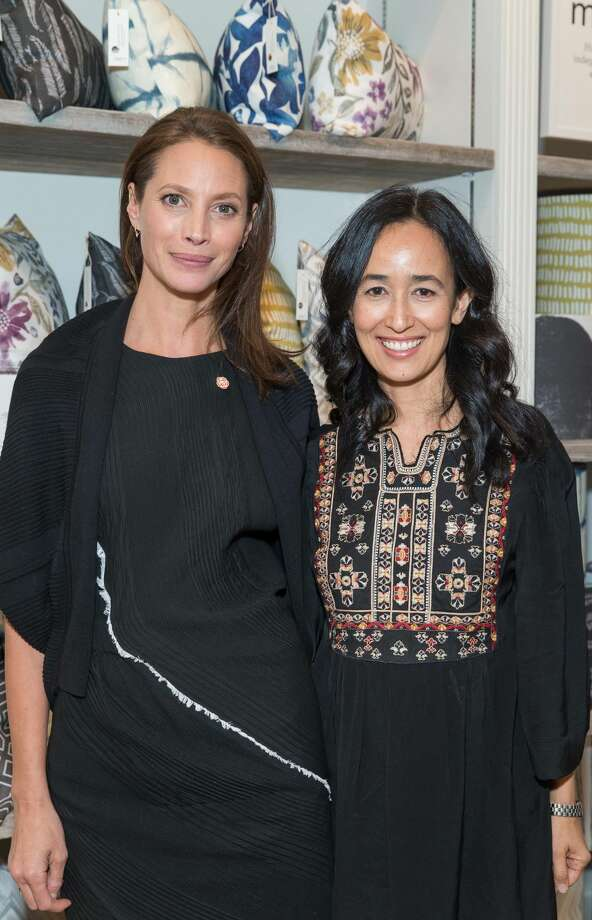 Christy Turlington Burns and Minted founder Mariam Naficy at the grand opening of Minted Local pop-up store on Grant Ave. on Thursday May 19, 2016. The pop-up, Minted Local will highlight the work of California artists. Fifty percent of the proceeds from every purchase made through May 26 will benefit Every Mother Counts, the nonprofit founded by Turlington Burns that supports maternal wellness worldwide. For the remainder of the pop-up, 20 percent of sales from Every Mother Counts' Orange Rose collection will be donated to the organization. Photo: Claudine Gossett For Drew Altize, Drew Altizer