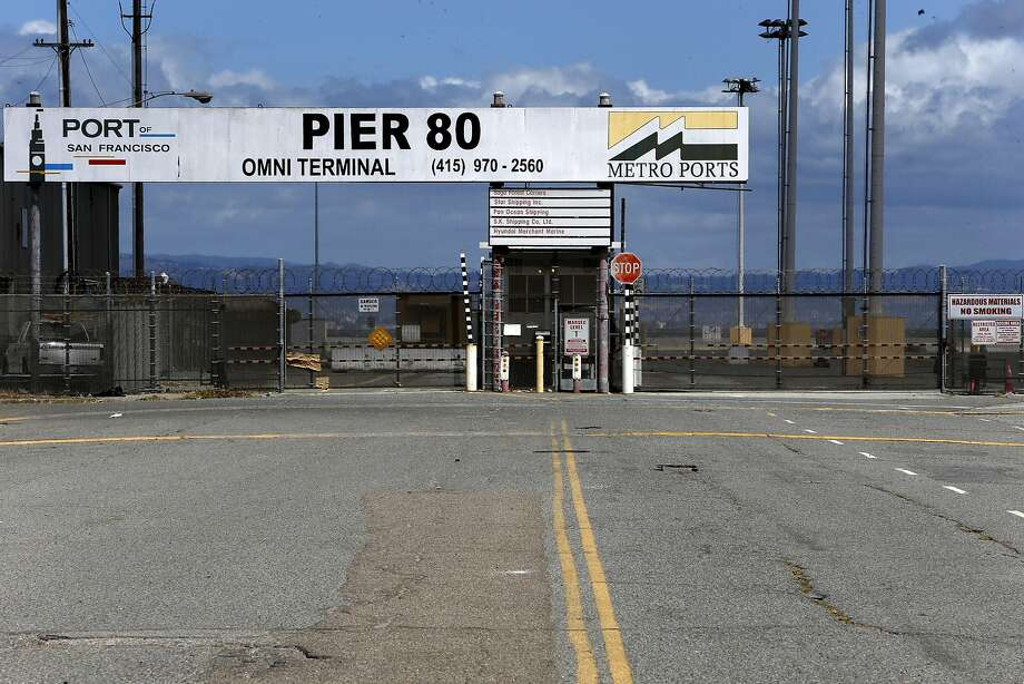 Pier 80 at the eastern end of Cesar Chavez Street in San Francisco, California on Fri. May 20, 2016. The Port of San Francisco has reached a deal with an automobile import company to use Pier 80 where they plan to bring in 150,000 cars per year. Photo: Michael Macor, The Chronicle