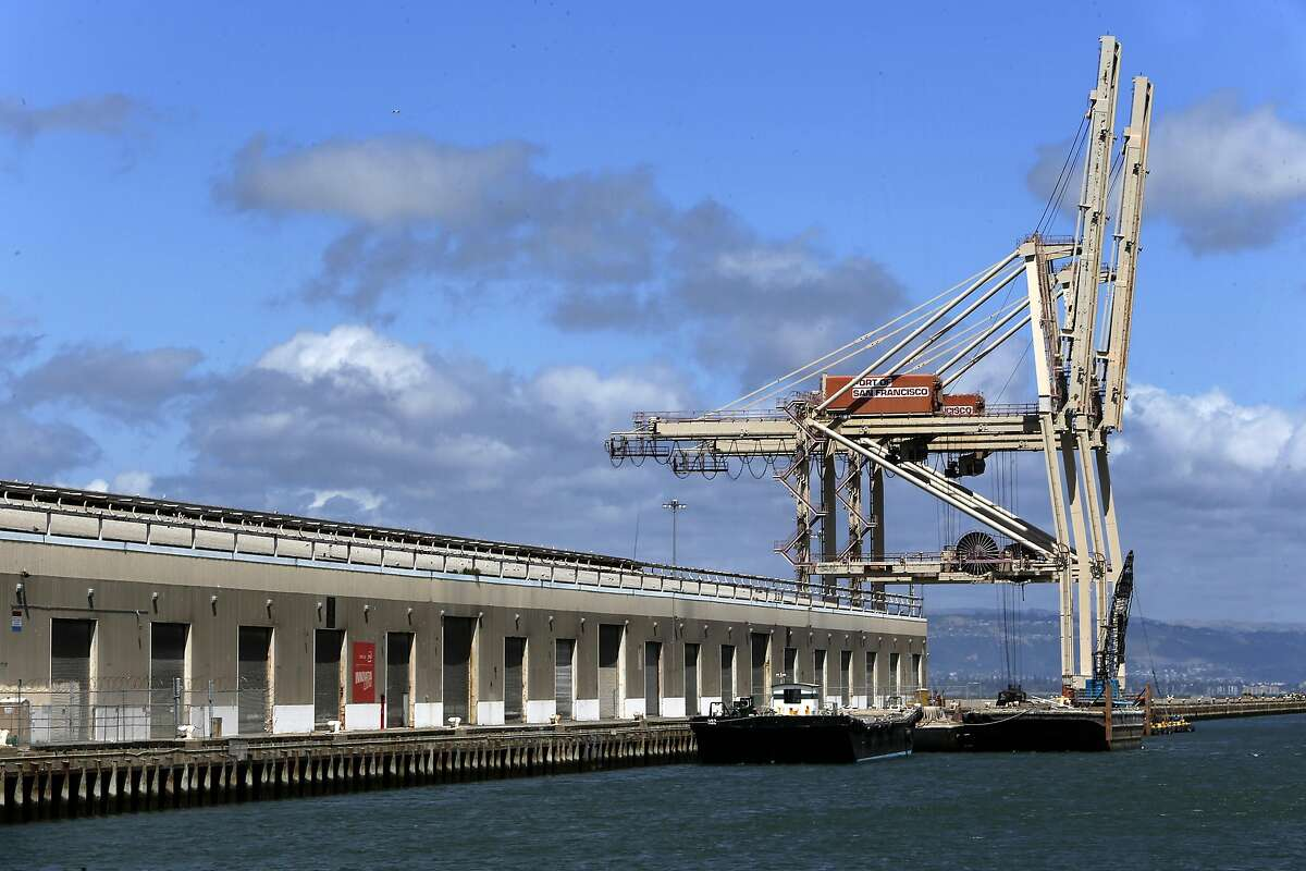 Pier 80 at the eastern end of Cesar Chavez Street in San Francisco, California on Fri. May 20, 2016. The Port of San Francisco has reached a deal with an automobile import company to use Pier 80 where they plan to bring in 150,000 cars per year.