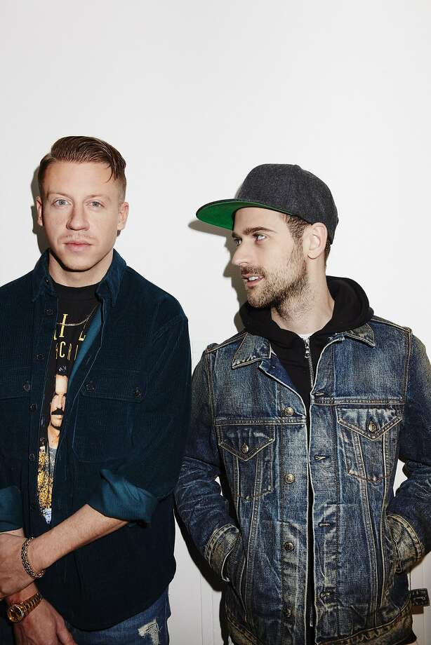 Macklemore (left) and Ryan Lewis are making a stop in San Francisco. Photo: BEN RAYNER, NYT