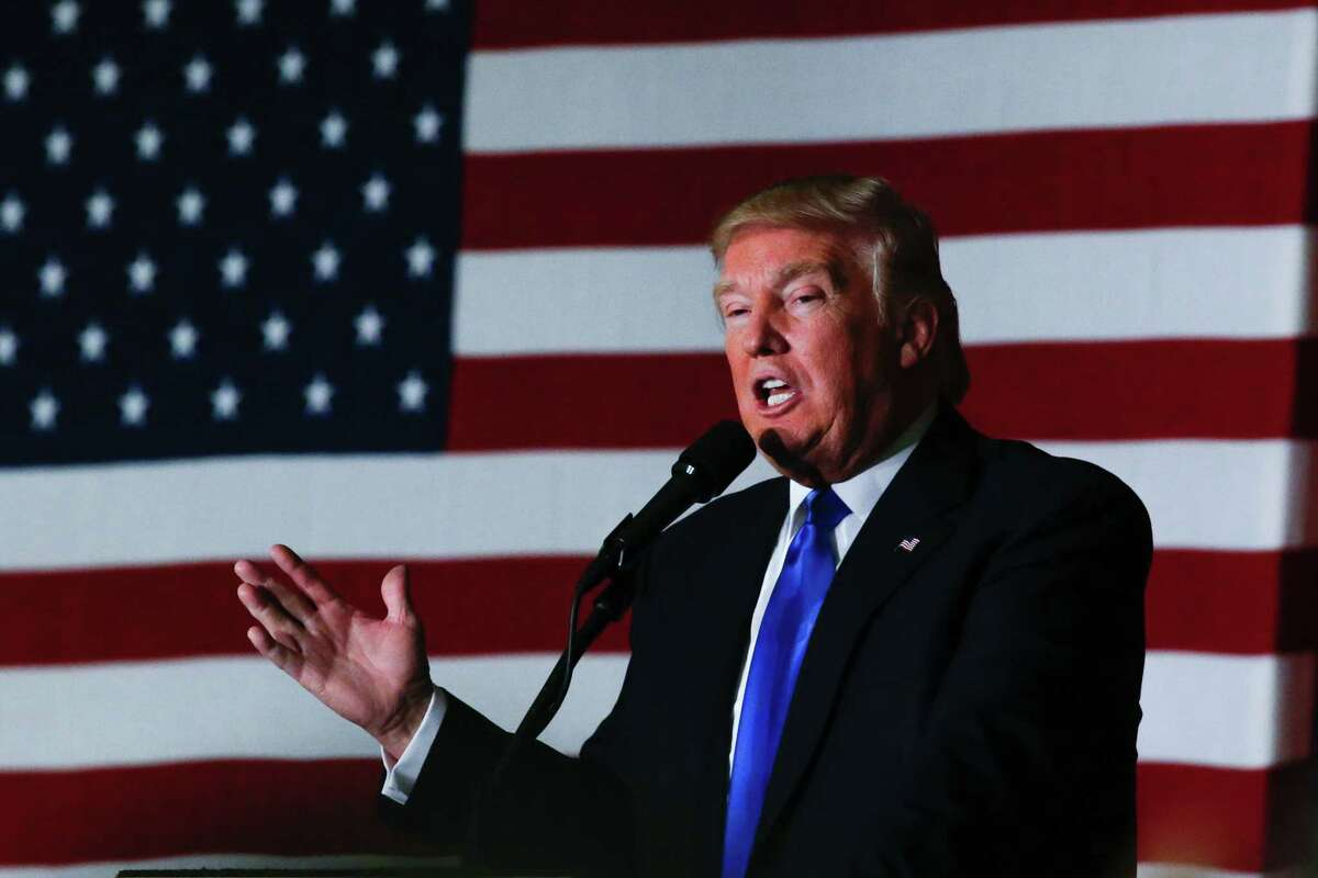 Republican presidential candidate Donald Trump speaks at a fundraising event in Lawrenceville, New Jersey on May 19. (Eduardo Munoz Alverez / Getty Images)