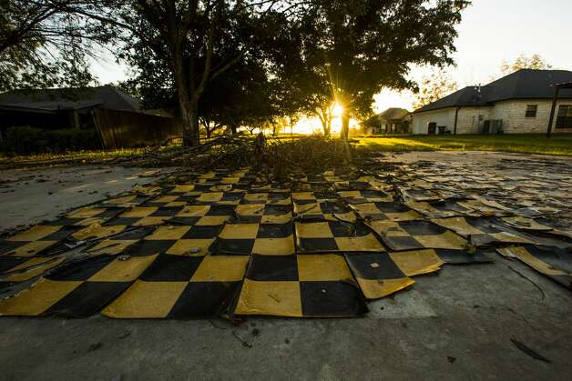 The flooring is all that remains of a house damaged three years ago in a      massive explosion at the West Fertilizer Company.      ( Michael Ciaglo / Houston Chronicle ) Photo: Houston Chronicle