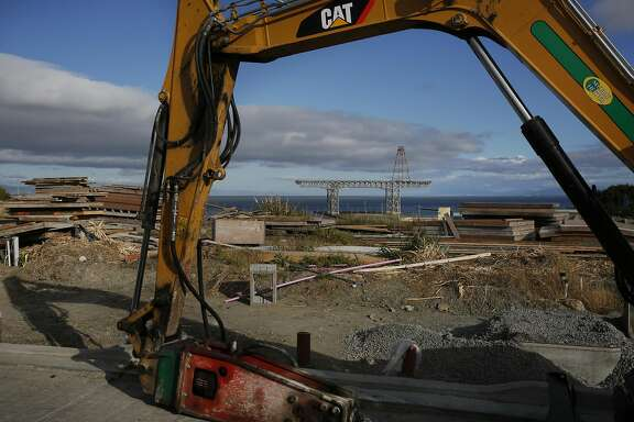 The construction site at Hunter's Point Shipyard May 14, 2016 in San Francisco, Calif.