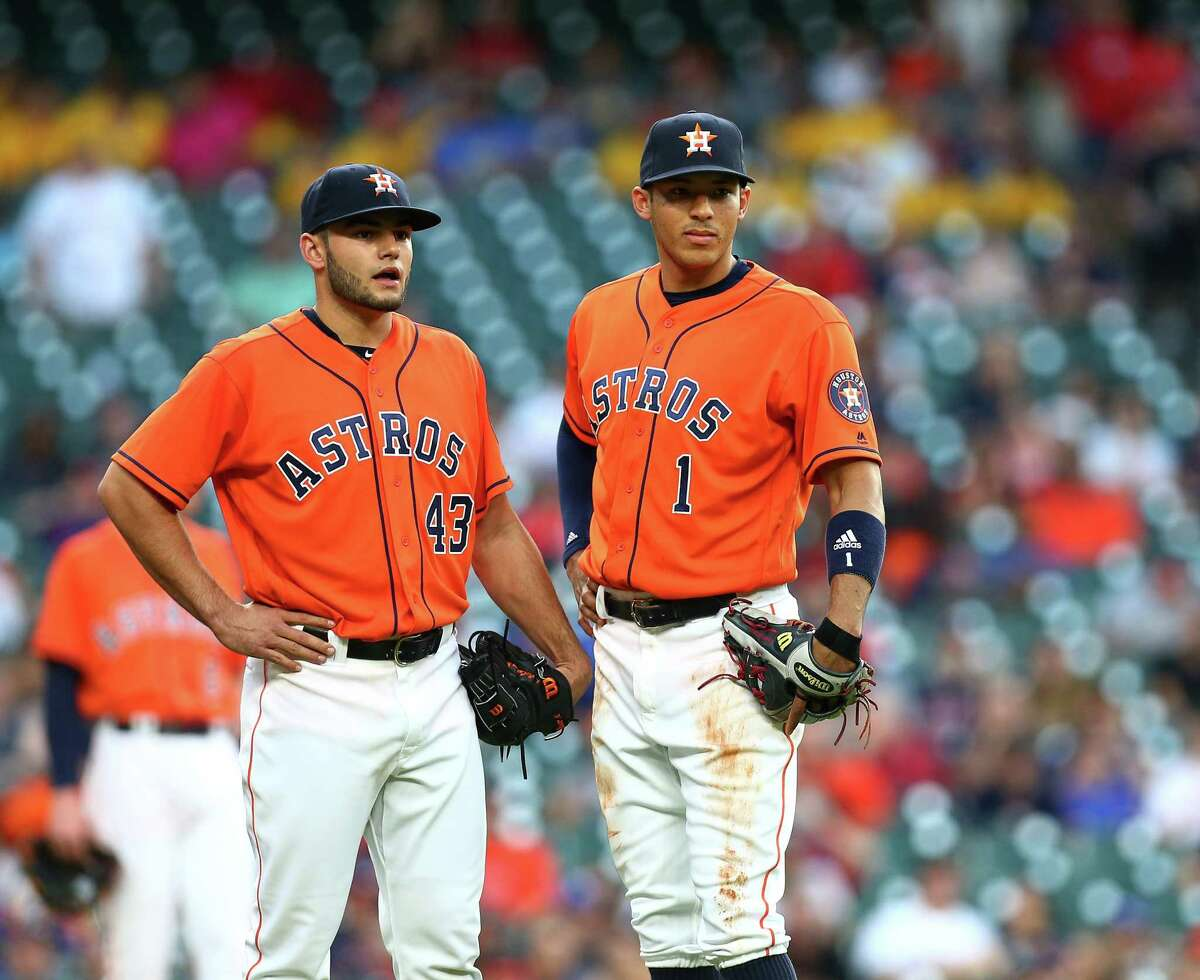 Draft boon (June 4, 2012) A 106-loss season the year before Crane and Luhnow took over gave the Astros the No. 1 pick, which they used on Carlos Correa, who many had ranked below Byron Buxton - taken by the Twins with the No. 2 pick. Buxton has a career average of .237 in five big league seasons. As compensation for letting Clint Barmes leave via free agency, the Astros also were given a supplemental draft pick where they took Lance McCullers with the 41st pick.