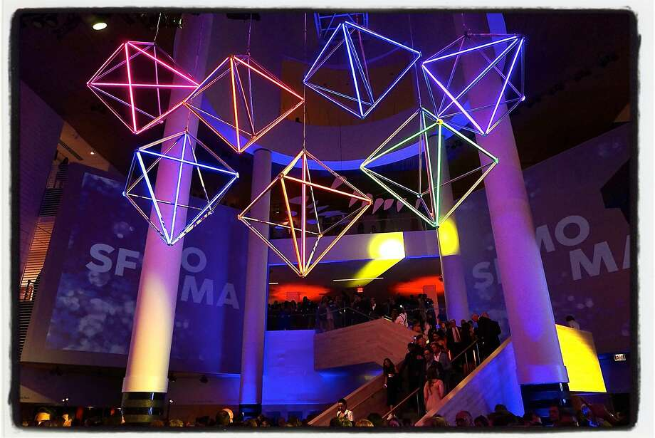SFMOMA's Modern Ball post-party soiree was expertly illuminated by Got Light, SFMOMA's event production partner. The ball is the museum's biennial fundraiser. Photo: Catherine Bigelow, Special To The Chronicle