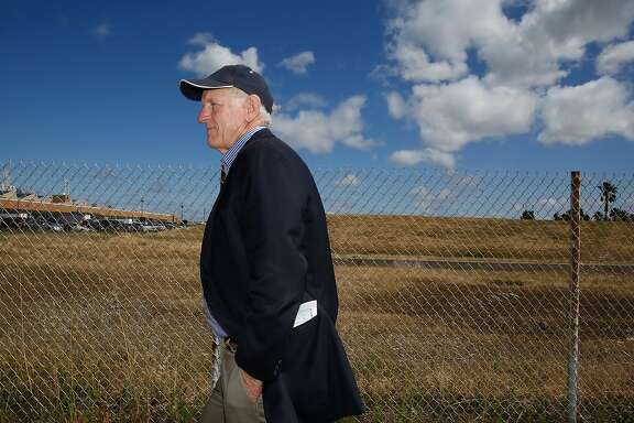 Richmond Mayor Tom Butt shows the five acre controversial Richmond Riviera project in Richmond, California, on Friday, May 20, 2016.   Developer is planning to build 59 luxury homes seeking support through a ballot measure.  Mayor Tom Butt would rather support ideas suited towards the historic past shipyard.