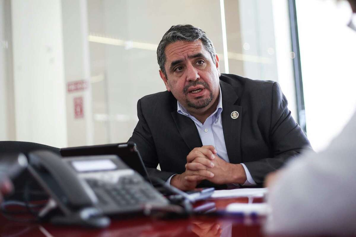 David Lopez, general counsel for the EEOC talks to the Houston Chronicle on Wednesday, April 27, 2016, in Houston. ( Elizabeth Conley / Houston Chronicle )