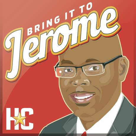 Podcast logo art for Bring it to Jerome podcast, hosted by Jerome Solomon. / Houston Chronicle