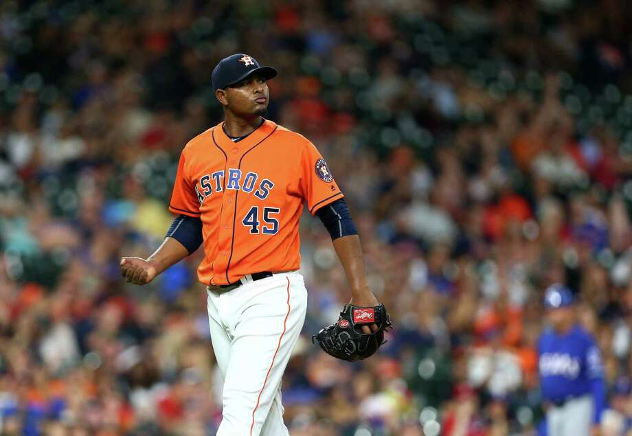 Michael Feliz worked three innings of shutout relief in Friday's loss to the Rangers, prompting questions as to whether he might move into the Astros' rotation. Photo: Jon Shapley, Houston Chronicle / © 2015  Houston Chronicle