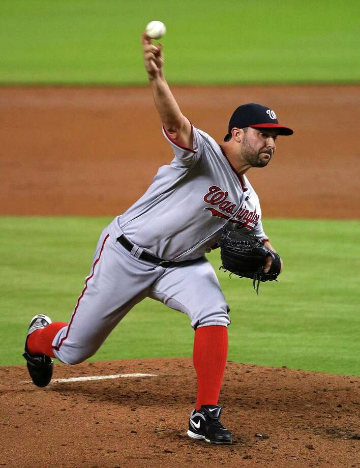 MIAMI, FL - MAY 20:  Tanner Roark #57 of the Washington Nationals pitches during a game against the Miami Marlins at Marlins Park on May 20, 2016 in Miami, Florida.  (Photo by Mike Ehrmann/Getty Images) ORG XMIT: 607677921 Photo: Mike Ehrmann / 2016 Getty Images
