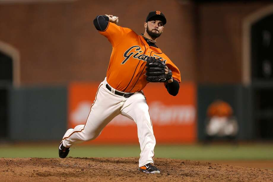 George Kontos missed 26 games with a flexor strain. Photo: Michael Macor, The Chronicle